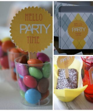"Happy Birthday Party  ""Hello Party Time"" und DIY Einladungskarten zum downloaden"