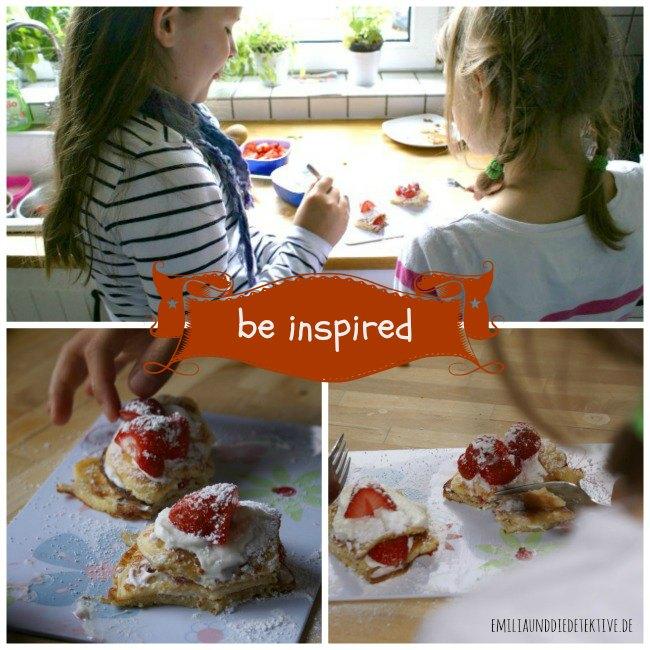 Kinder beim pancake verzieren