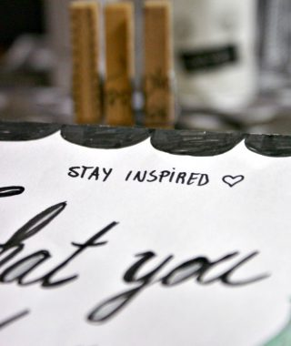 stay inspired – love what you do – Papierhaus zum Downloaden