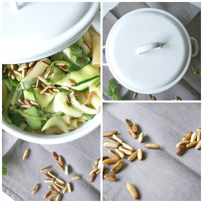 Vegetarisches Nudel Gericht mit viel Gemüse