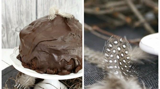 Kakaokuchen mit Schokoladenglasur