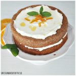 Orangen Mandel Torte zum Herbsteinklang