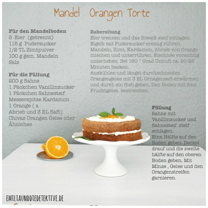 Rezept Orangen Mandel Torte