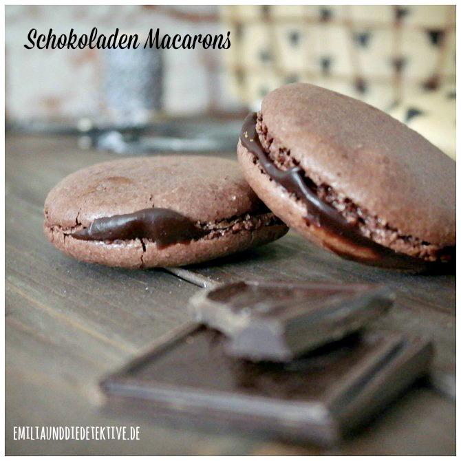 Schokoladen MAcarons mit Kaffee Ganache