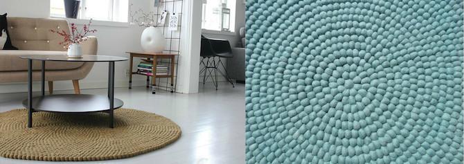 Filzkugel Teppich