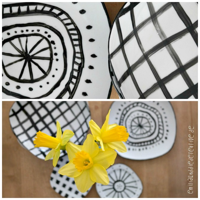 Porzellanmalerei Teller aufpimpen