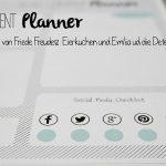 Blogger Hilfe – Der Blog Content Planner zum Ausdrucken