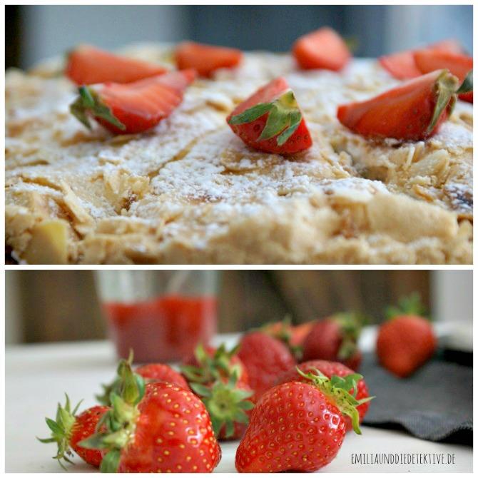 Erdbeer Sahne Baiser Torte