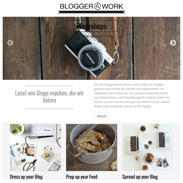 Blogger@Work Website erstellt von Emilia und die Detektive