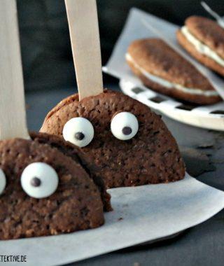 Wie Whoopies und Zitronen Joghurt Muffins Halloween feiern