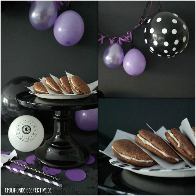 Whoopies und Joghurt Muffins zu Halloween