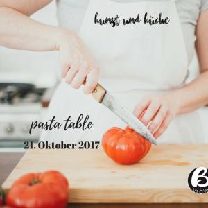Blogger Vis à Vis pasta table mit Susanne schanz von Kunst und Küche