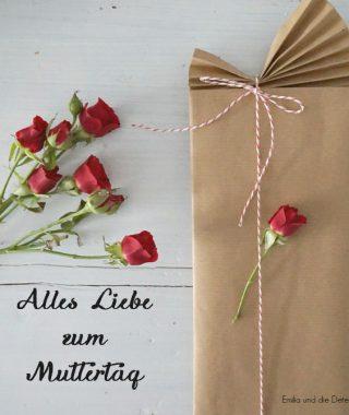 Wie ihr schnell noch ein schönes Muttertagsgeschenk verpackt
