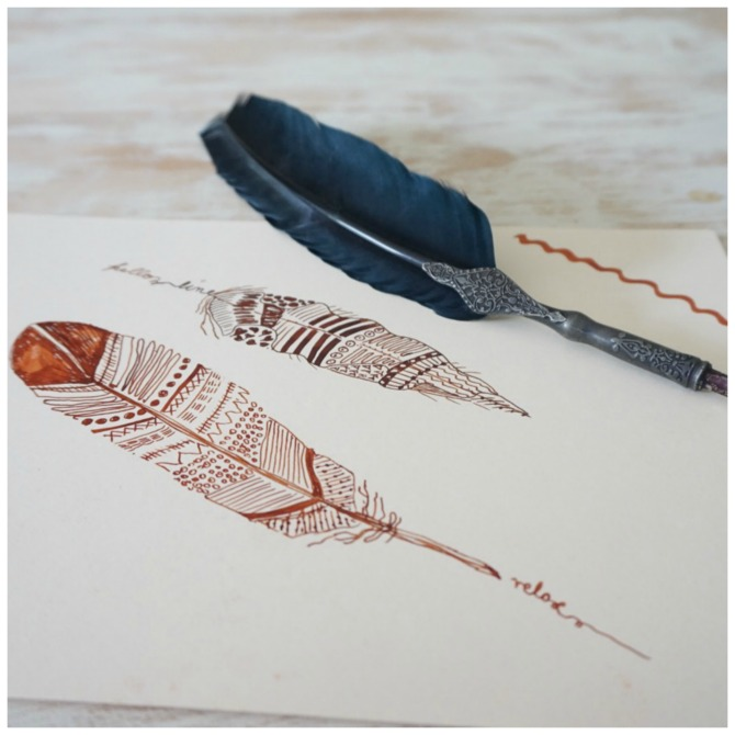 Tinte und Feder