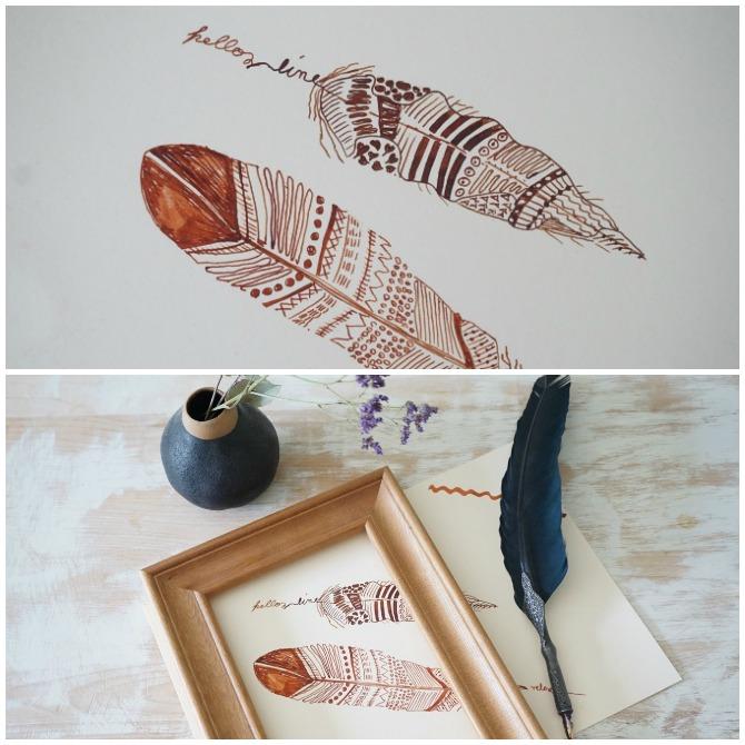 Meditieren mit Tinte und Feder