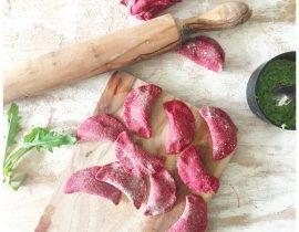 Rote Beete Pasta & Piroggen (handmade)