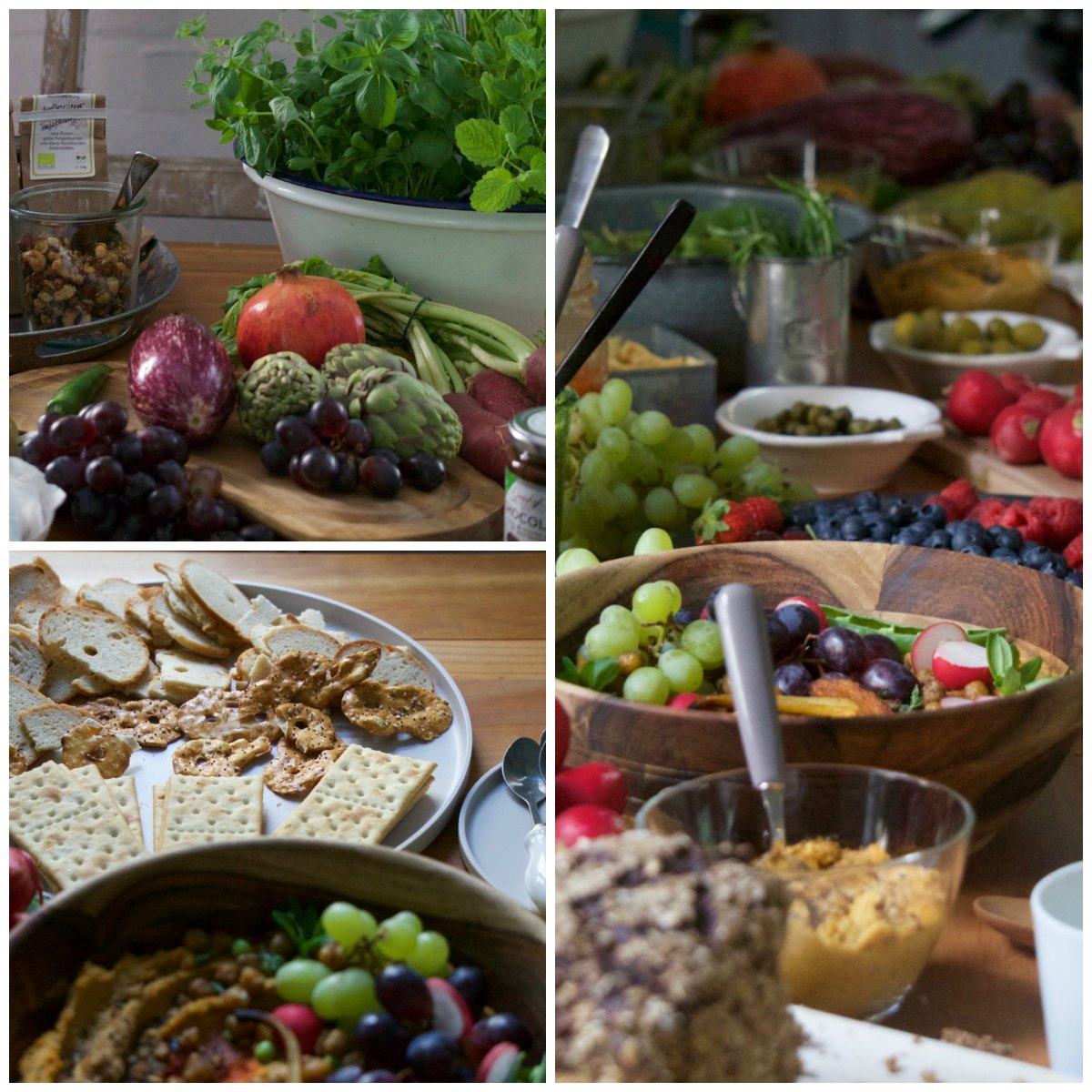 buffet im offlab beim Fotografie Workshop