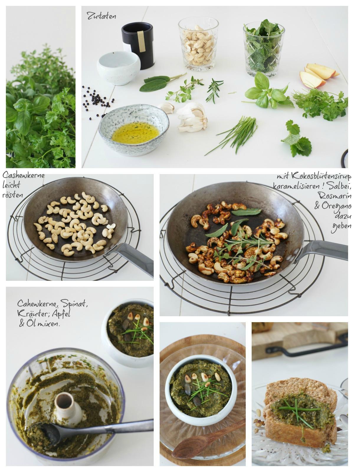 Anleitung Kräuter Pesto